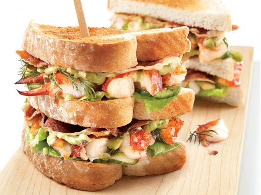 Ultimate Lobster Club Sandwich