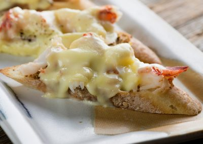 Lobster and Brie Grilled Cheese Bites