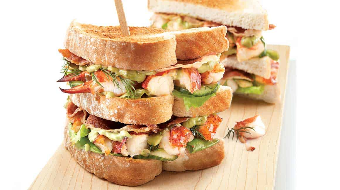 Ultimate Lobster Club Sandwich | Close Harbour Seafood