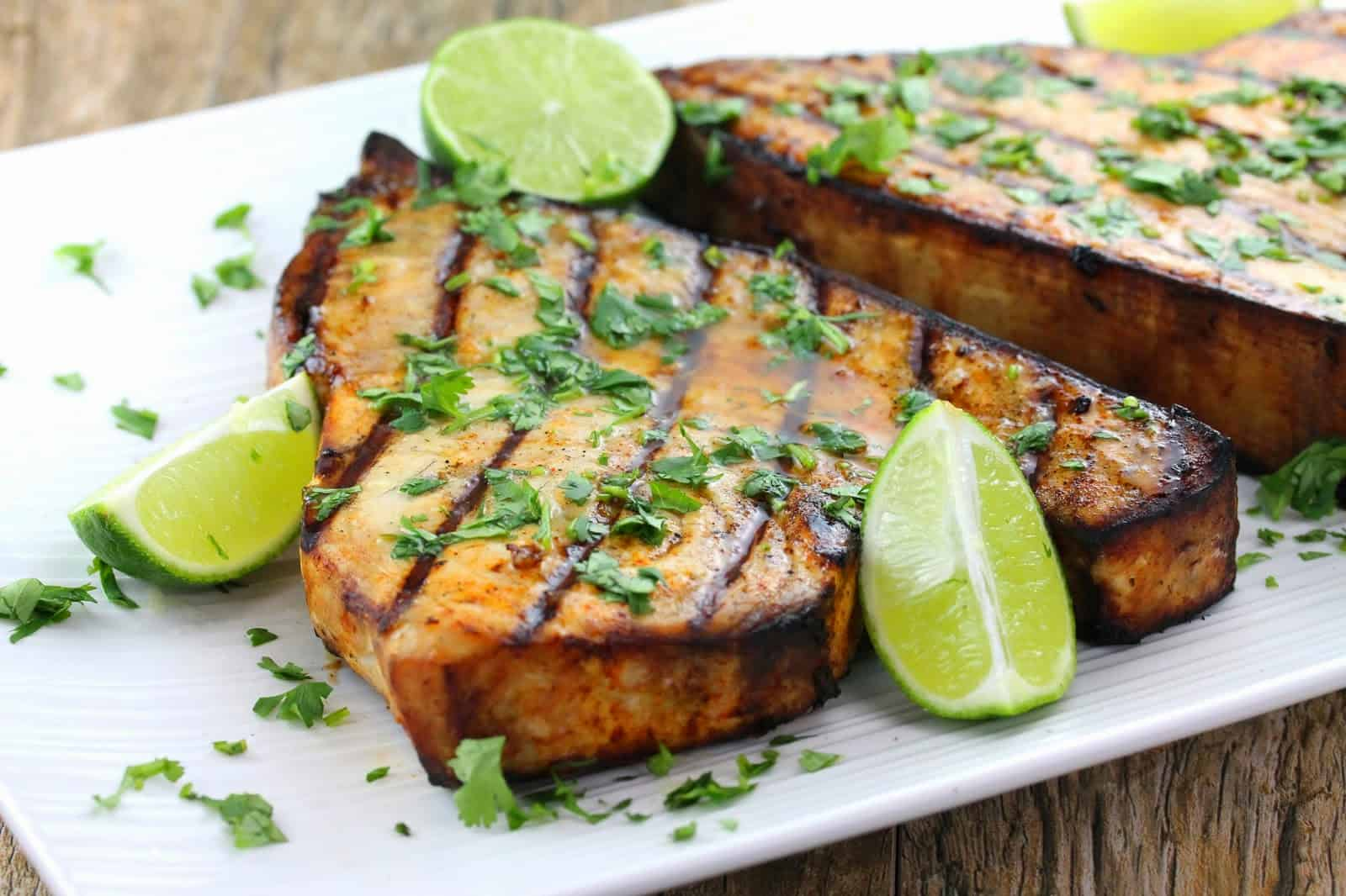 Grilled Swordfish with Salsa Verde   from the Bartolini ...   Broiled Swordfish