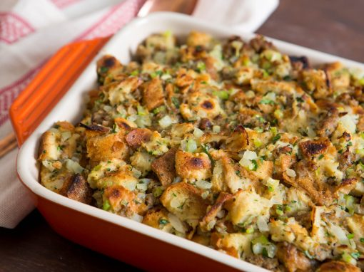 Oyster Stuffing With Fennel, Tarragon, and Sausage